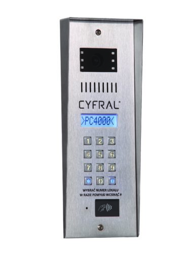 Panel PC-4000 RVE <br>z kolorową kamerą i wbudowaną nową elektroniką